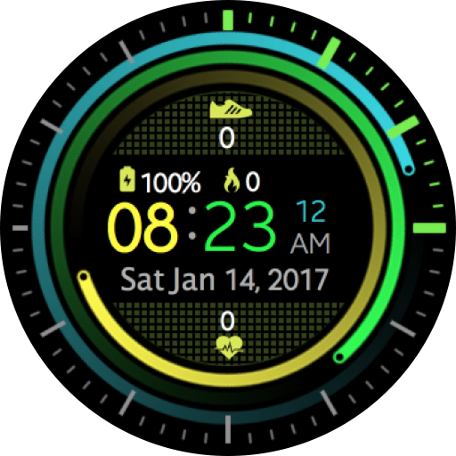 Digital Green Sports Watch