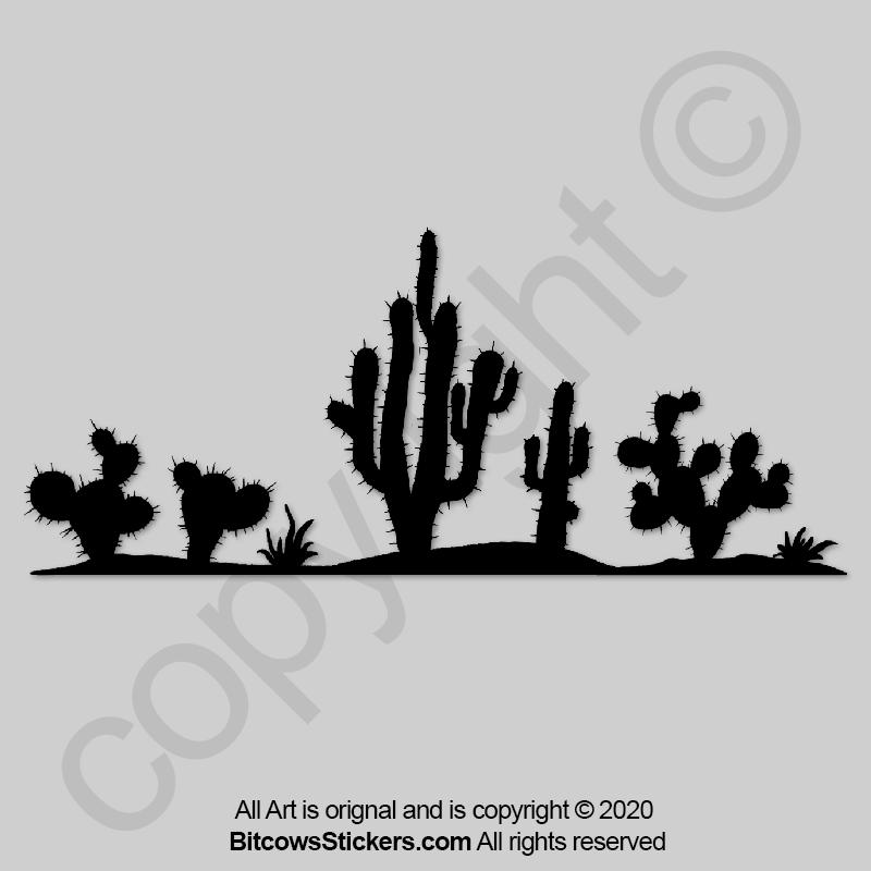 jeep sticker cactus saguaro arizona
