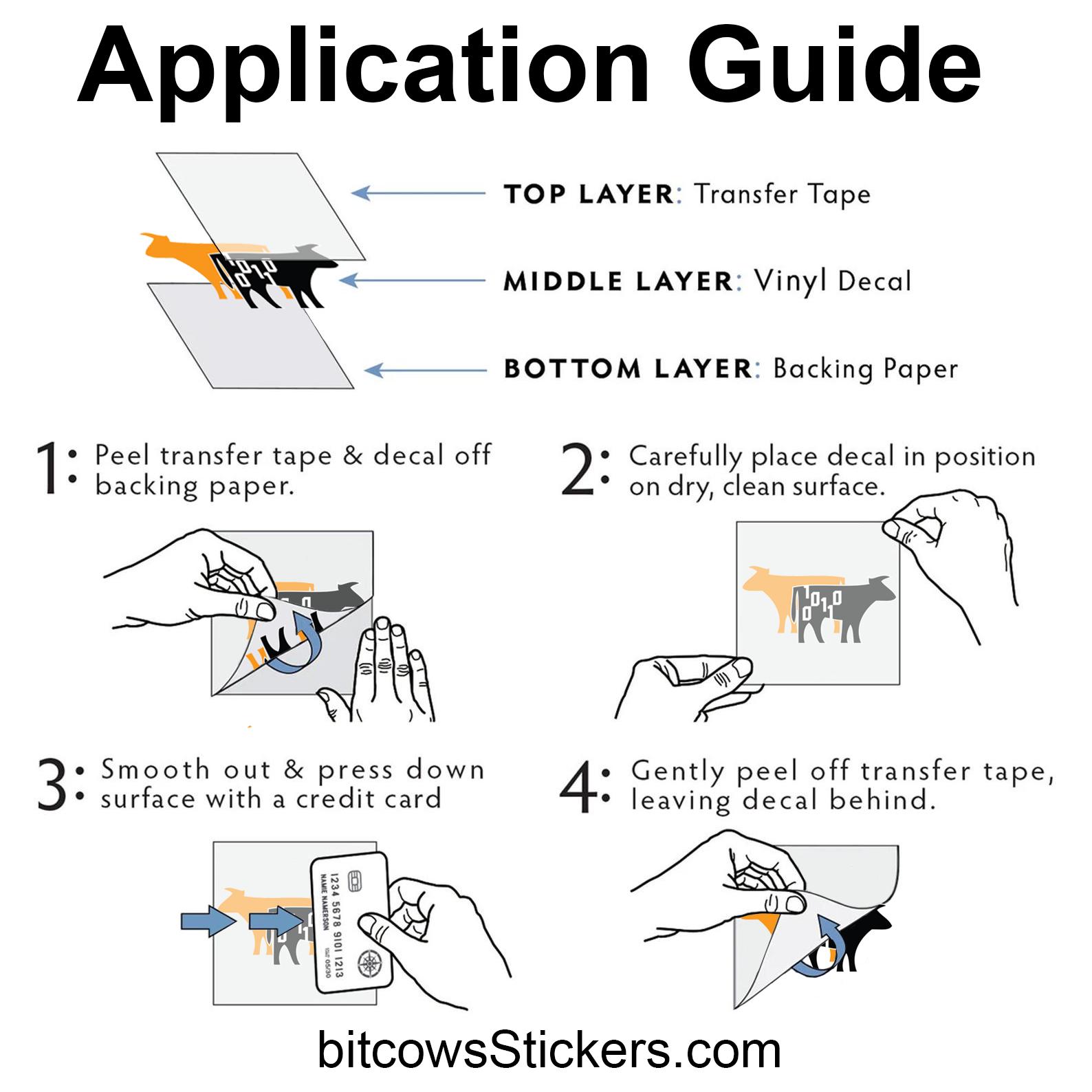 https://bitcowsStickers.com instructions